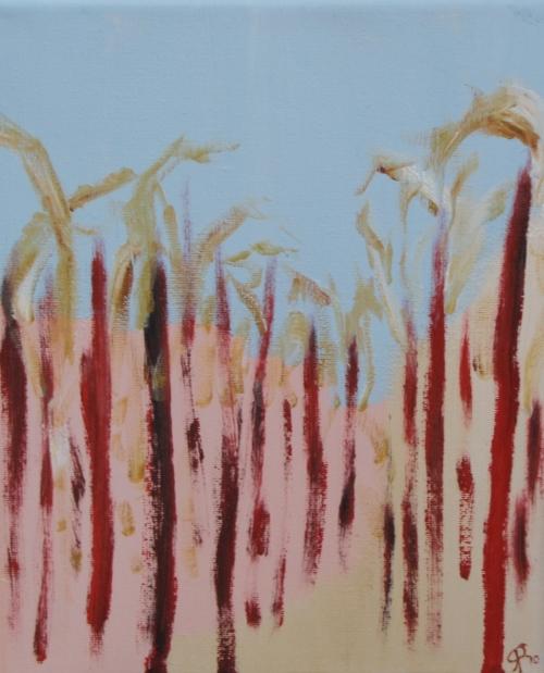 Receding Corn, Russell Steven Powell oil on canvas, 10x8