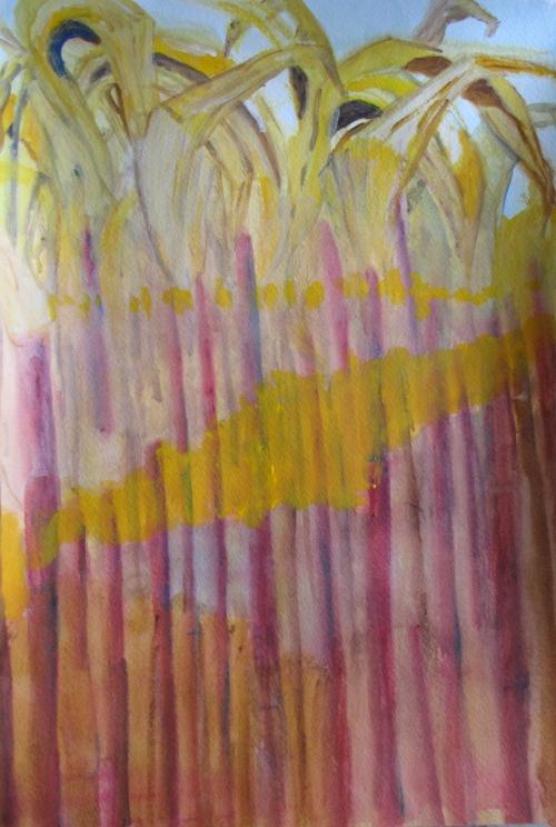 November Corn, Russell Steven Powell watercolor, 12x18