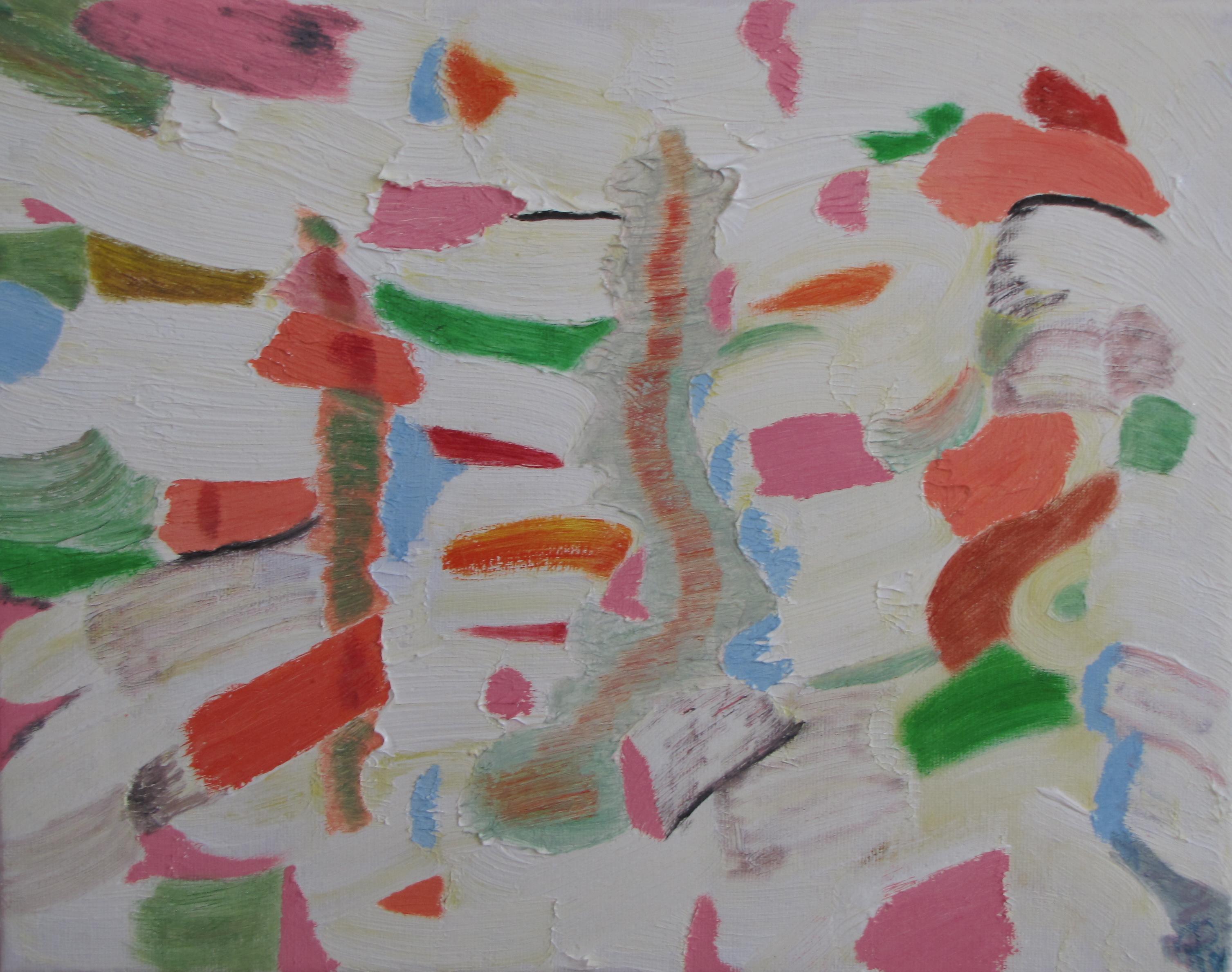 Pillars, Russell Steven Powell oil on canvas, 14x11