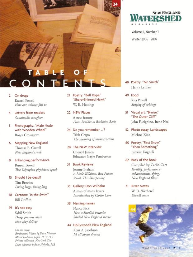 Table of Contents, Vol. 2, No. 1