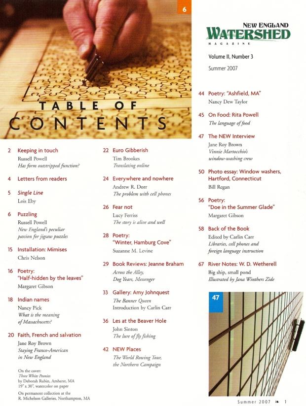 Table of Contents, Vol. 2, No. 3