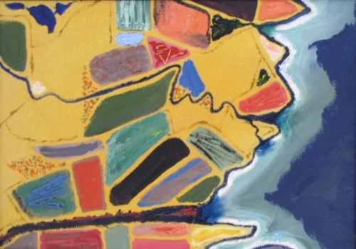 September Fields, Russell Steven Powell mixed media on canvas board, 14x11
