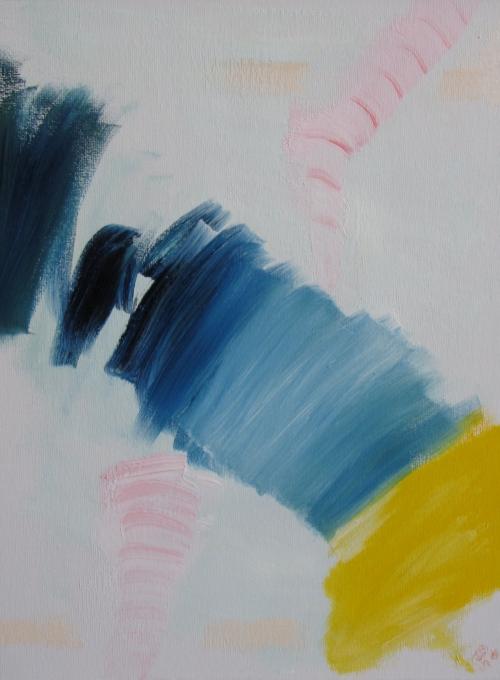 Falling, Russell Steven Powell oil on canvas board, 12x16