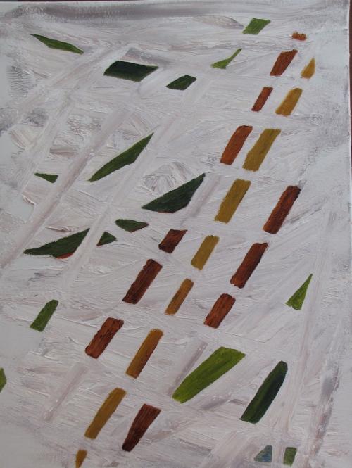 November Fields, Russell Steven Powell oil on canvas, 18x24