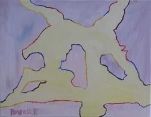 March Fields, Russell Steven Powell oil on canvas, 14x11