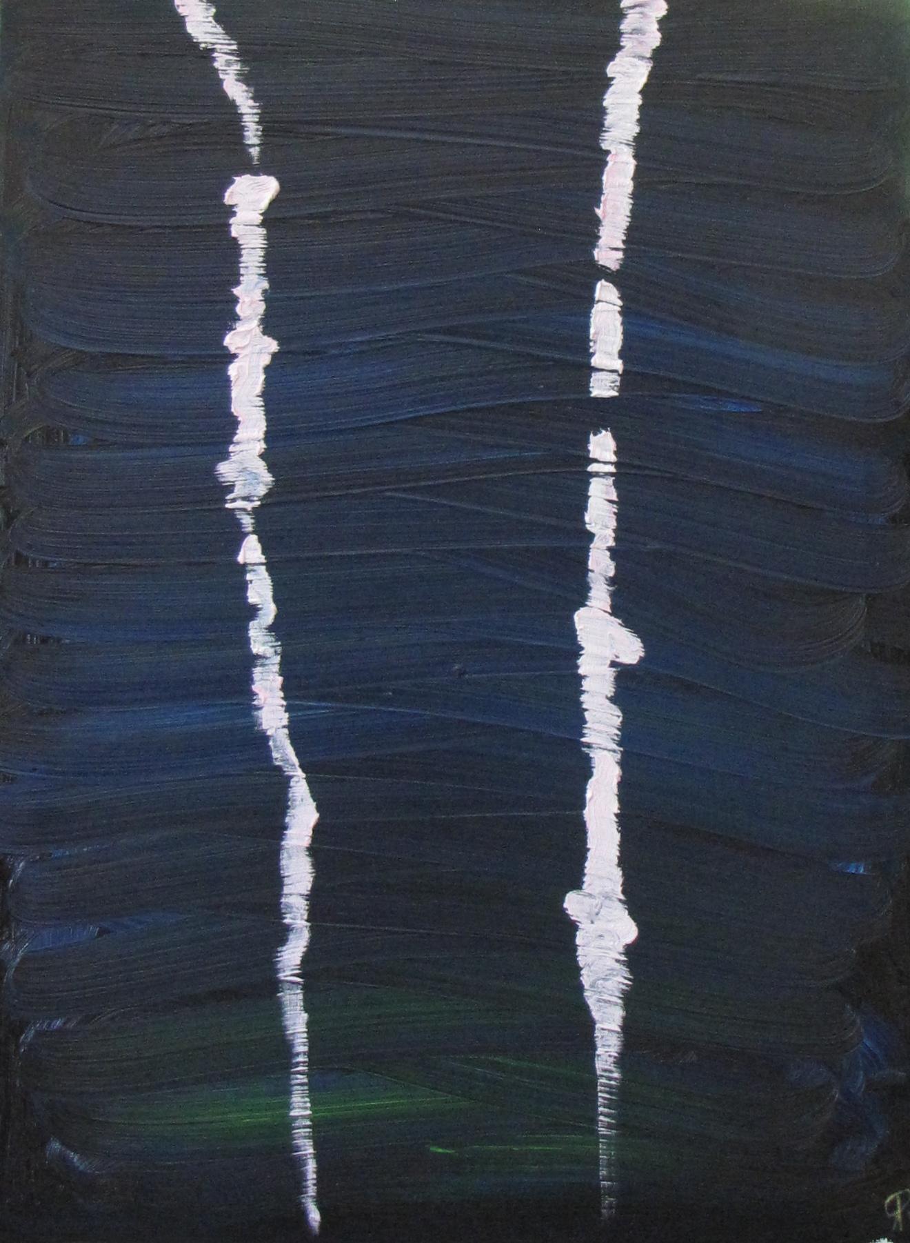 Flight of the Honeybee, 4 p.m., Russell Steven Powell oil on canvas, 18x24
