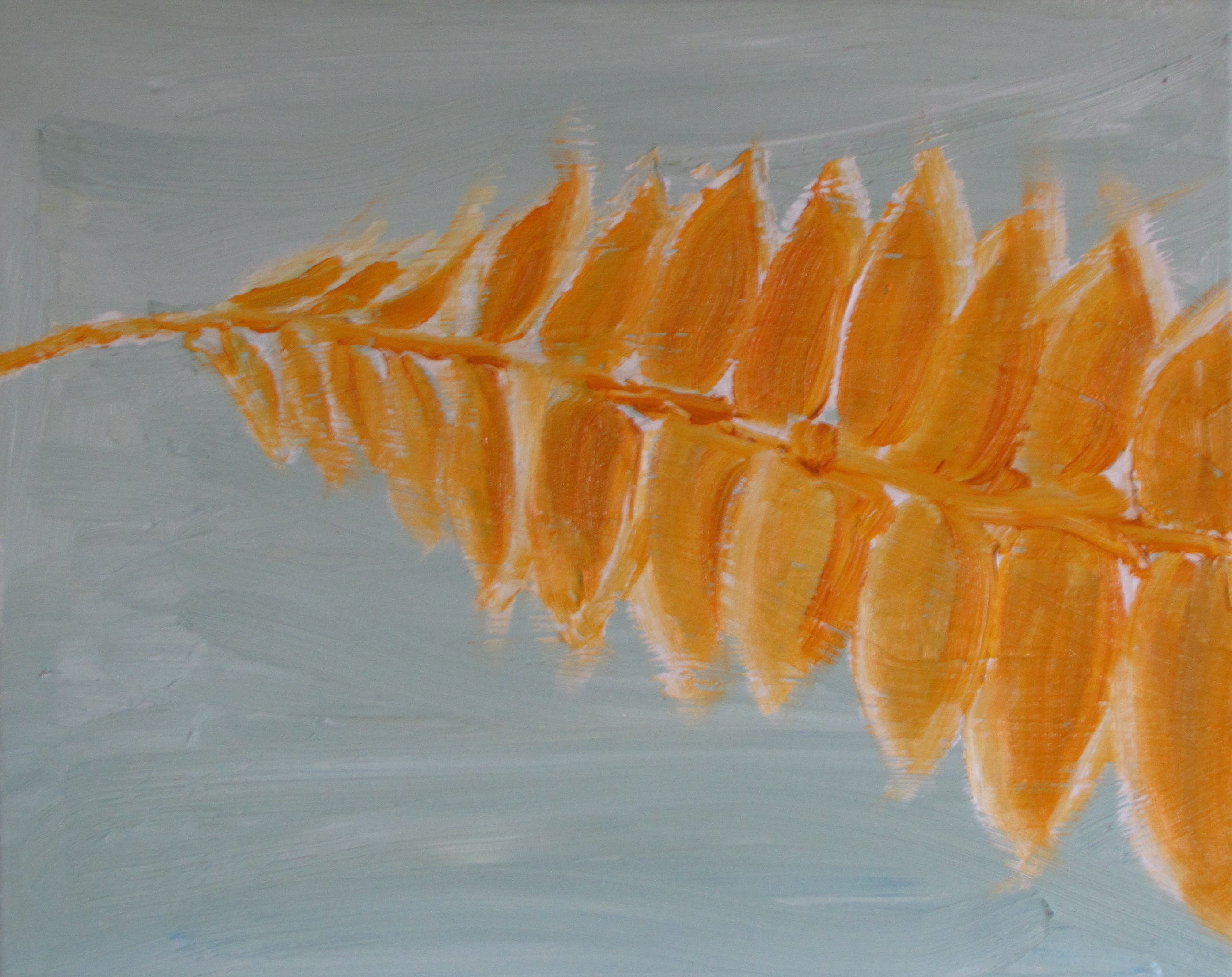 Seed Head, Afternoon, Russell Steven Powell oil on canvas, 20x16