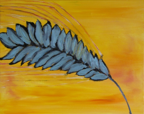 Seed Head, Sunset, Russell Steven Powell oil on canvas, 20x16