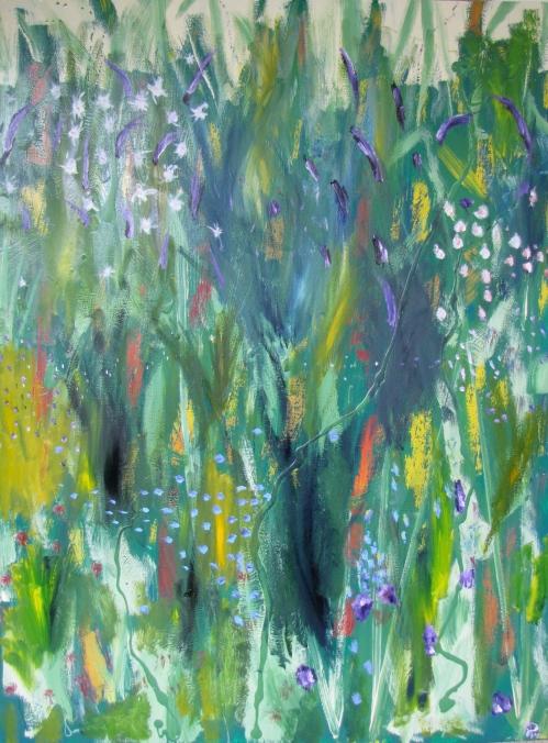 Sea Meadow, Russell Steven Powell oil on canvas, 36x48