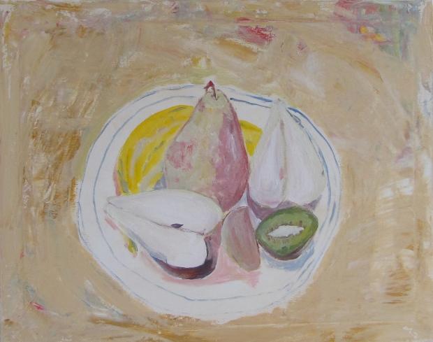 Vanishing Fruit, Russell Steven Powell acrylic on canvas, 20x16