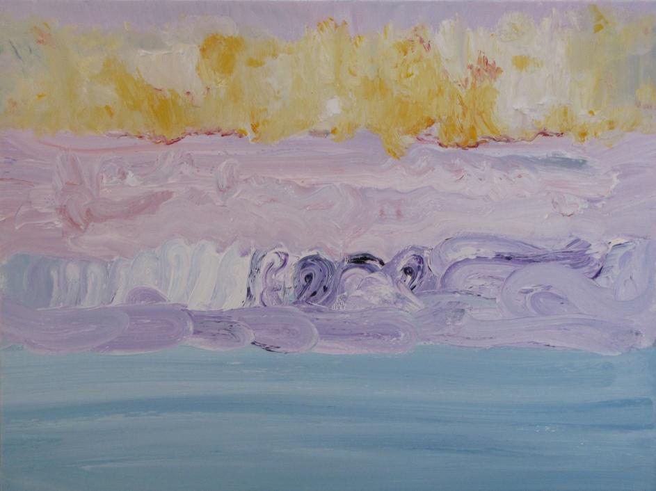 "Dunes, Dawn, oil on canvas, 16""x20"""