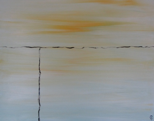 Where to Draw the Line, Russell Steven Powell oil on canvas, 120x16