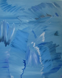 Blue, Now, Russell Steven Powell oil on canvas, 24x36