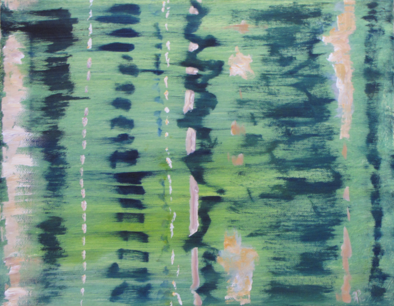 Vines, Rain, Russell Steven Powell oil on canvas, 11x14