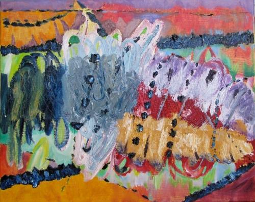 Bird's Eye View, Russell Steven Powell oil on canvas, 20x16