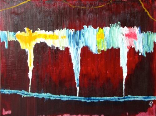 Bridge, Information Highway, Russell Steven Powell oil on canvas, 24x18