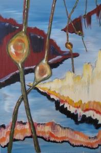 Great Pods of Sargasso (2012), Russell Steven Powell oil on canvas, 24x36