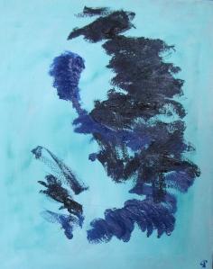 Beach II, Russell Steven Powell oil on canvas, 16x20