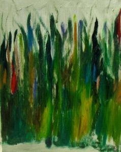 Grass, Russell Steven Powell oil on canvas, 16x20
