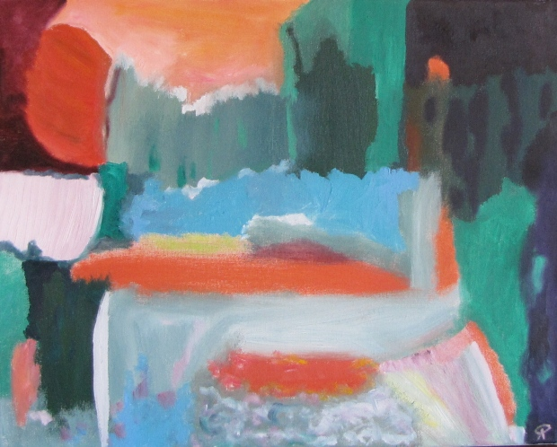 Water Table, Russell Steven Powell oil on canvas, 20x16