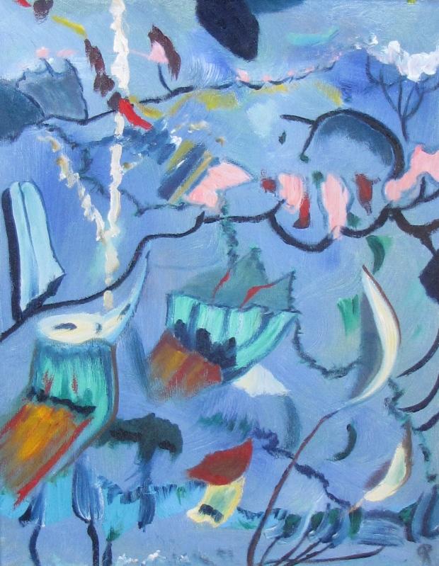 Ocean Floor, Russell Steven Powell oil on canvas, 11x14