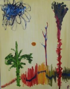 Landscape, Russell Steven Powell oil on canvas, 16x20