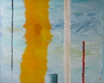 Five Lines, Russell Steven Powell oil on canvas, 36x24