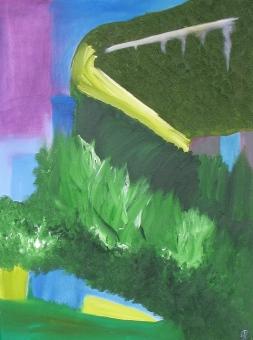 Mountain Pass, Original, Russell Steven Powell oil on canvas, 18x24