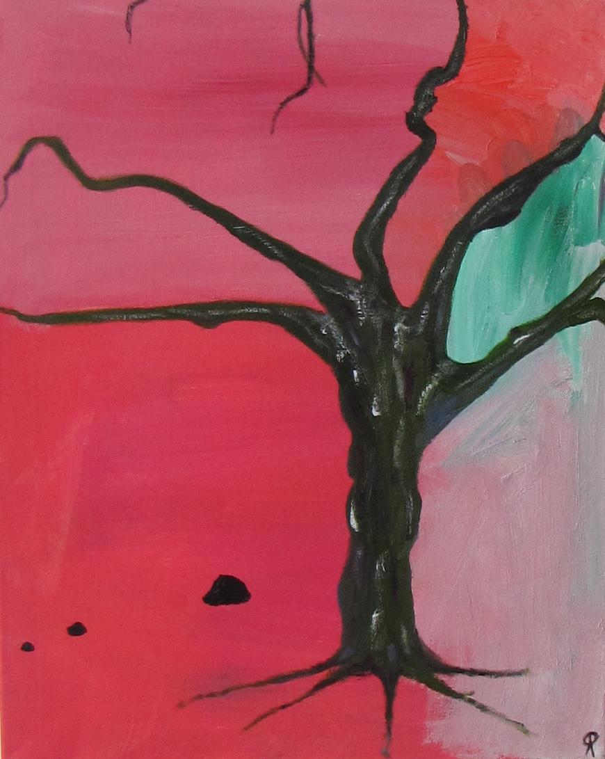 Apple Tree (December), Russell Steven Powell oil on canvas, 16x20