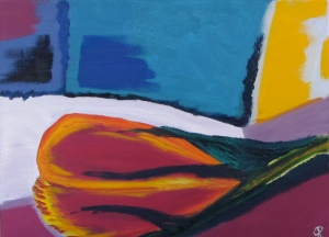 Final Flower, Russell Steven Powell oil on canvas, 14x11