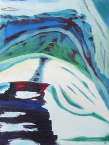 Mountain Ridge, Russell Steven Powell oil on canvas, 11x14