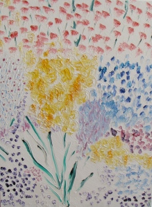Macro Bloom, Russell Steven Powell oil on canvas, 18x24