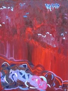 Shoreline, Russell Steven Powell oil on canvas, 18x24