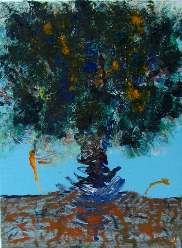 Field Trunk, Russell Steven Powell oil on canvas, 12x16