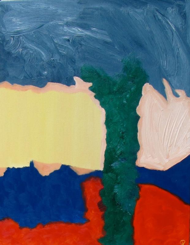 Garden Trunk, Russell Steven Powell oil on canvas, 16x20