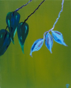 Leaves, Russell Steven Powell oil on canvas, 11x14