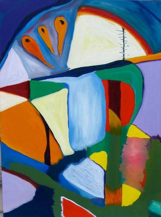 Sluiceway, Russell Steven Powell oil on canvas, 30x40