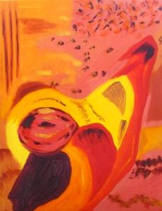 Glow, Russell Steven Powell oil on canvas, 11x14