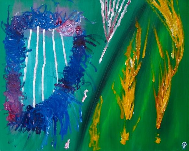 Harp Grass, Russell Steven Powell oil on canvas, 24x18