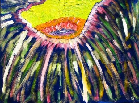 Beeline, Russell Steven Powell oil on canvas, 16x12