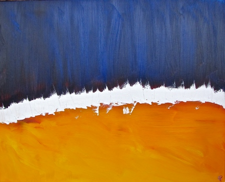 Abstract 6, Russell Steven Powell oil on canvas, 30x24