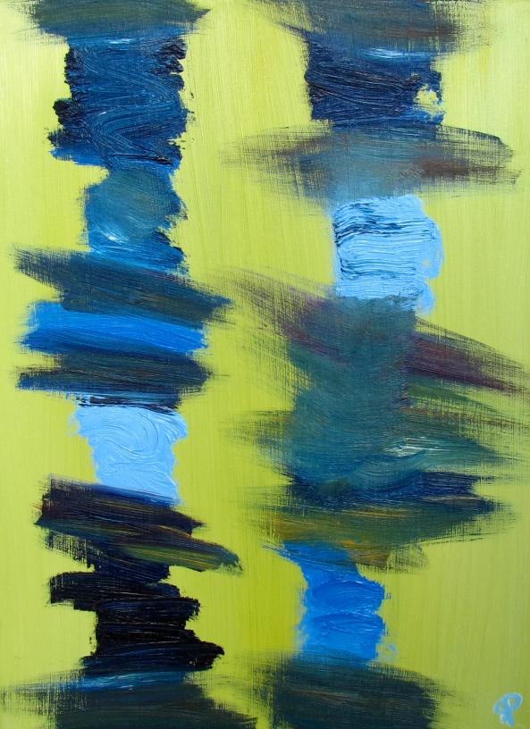 Legs, Russell Steven Powell oil on canvas, 11x14