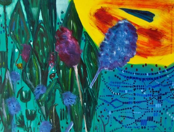 Landscape, Russell Steven Powell oil on canvas, 40x30