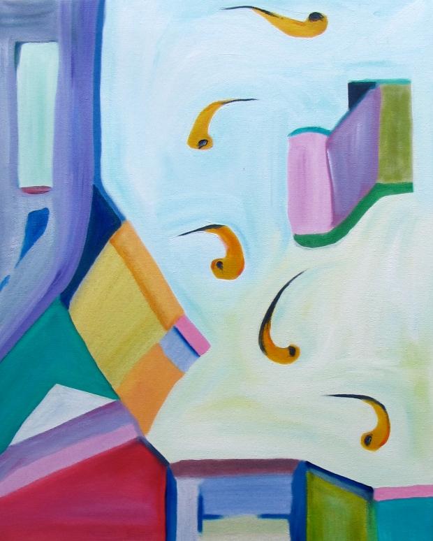 Leap Of Faith, Russell Steven Powell oil on canvas, 18x24