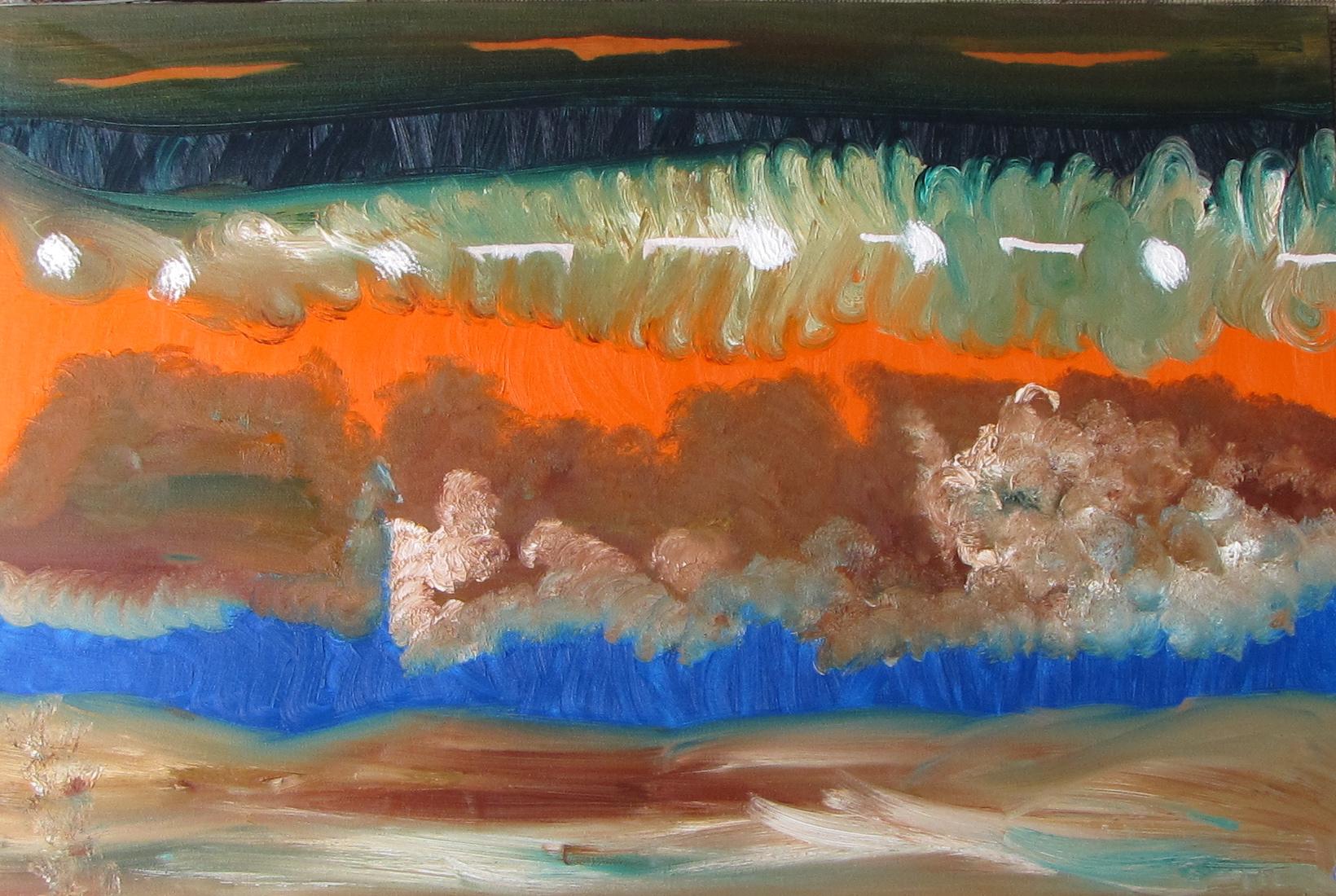 Landscape II, Russell Steven Powell oil on canvas, 36x24