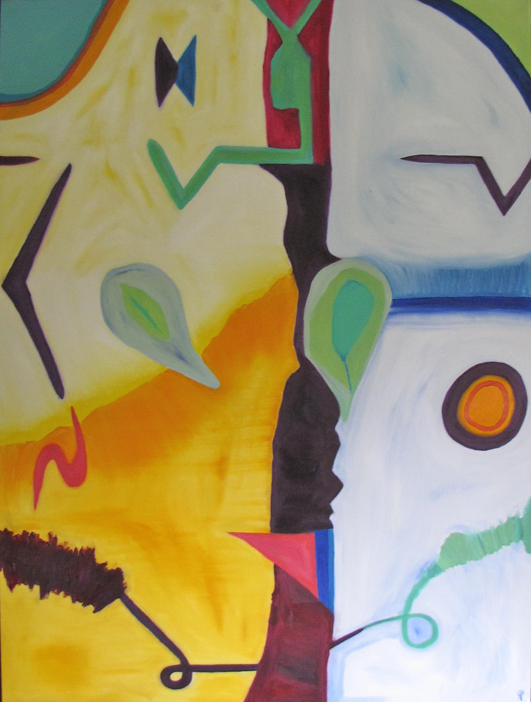 Quadrangle, Russell Steven Powell oil on canvas, 36x48