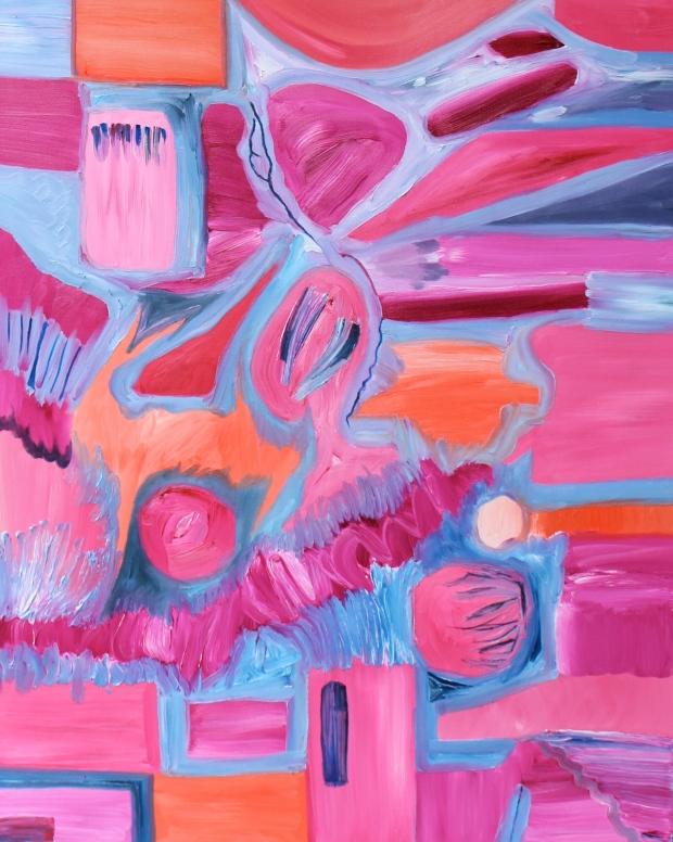 Beach Week, Russell Steven Powell oil on canvas, 18x24