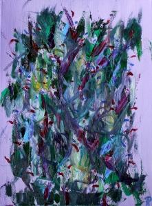 Butterfly Bush II, Russell Steven Powell oil on canvas, 11x14