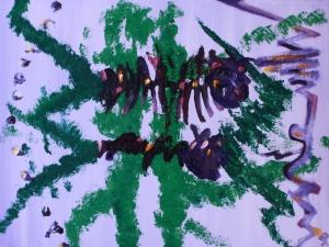 Butterfly Bush III, Russell Steven Powell oil on canvas, 14x11